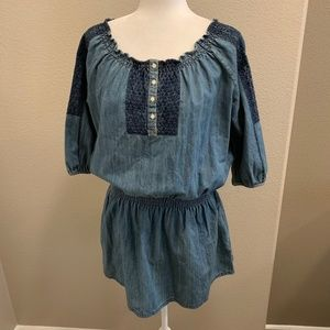 Ralph Lauren Embroidered Chambray Tunic Top